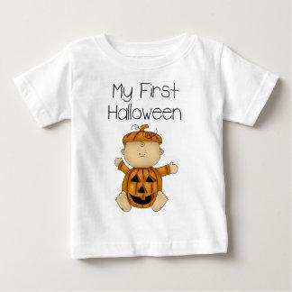 私の最初ハロウィンの男の子#3の*T-shirt* ベビーTシャツ