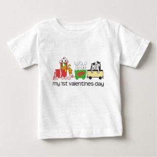 私の最初バレンタインデーの列車 ベビーTシャツ