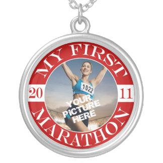 私の最初マラソン- 2011年 シルバープレートネックレス