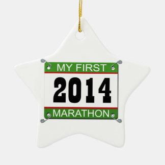 私の最初マラソン- 2014年 セラミックオーナメント