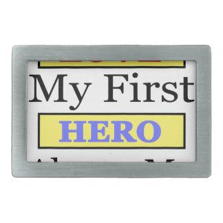 私の最初愛常の私の最初英雄私のパパ 長方形ベルトバックル