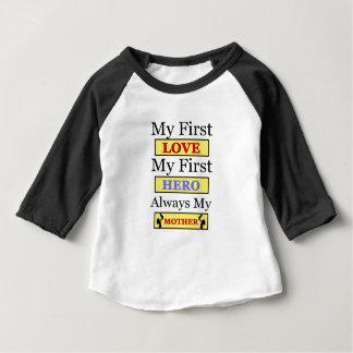 私の最初愛常の私の最初英雄私の母 ベビーTシャツ