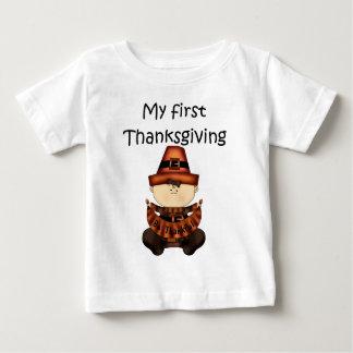 私の最初感謝祭の女の子#2の*T-shirt* ベビーTシャツ