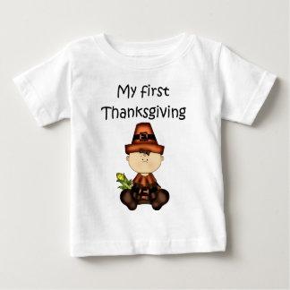 私の最初感謝祭の女の子#3の*T-shirt* ベビーTシャツ