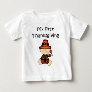 私の最初感謝祭の男の子#1の*T-shirt* ベビーTシャツ