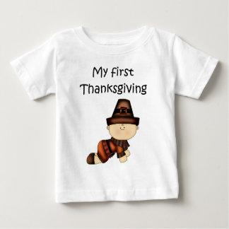 私の最初感謝祭の男の子#2の*T-shirt* ベビーTシャツ