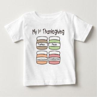 私の最初感謝祭のTシャツ ベビーTシャツ