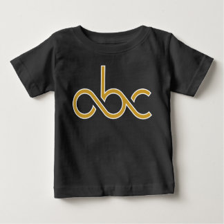 私の最初abcのTシャツ ベビーTシャツ