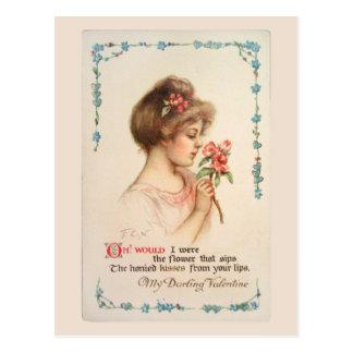 私の最愛のバレンタインのヴィンテージの郵便はがき ポストカード