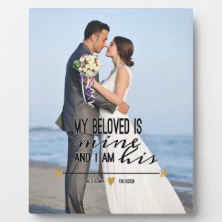 私の最愛は私の物、聖なる書物、経典および結婚式の写真です フォトプラーク