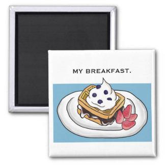 私の朝食 マグネット
