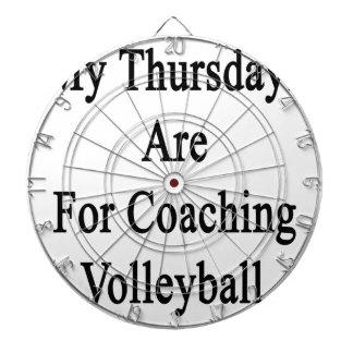 私の木曜日はコーチのバレーボールのためです ダーツボード