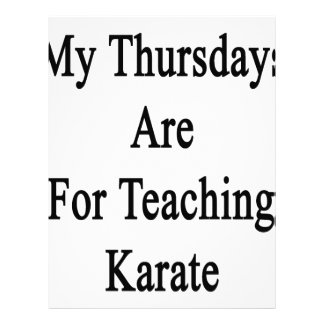 私の木曜日は空手を教えるのためです レターヘッド