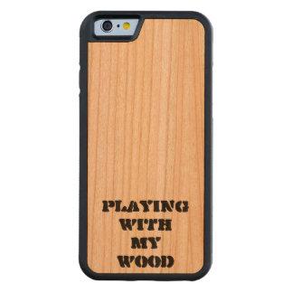 私の木製のiPhone6ケースと遊ぶこと CarvedチェリーiPhone 6バンパーケース