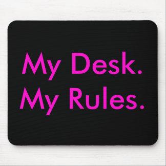 私の机、私の規則のmousepad マウスパッド