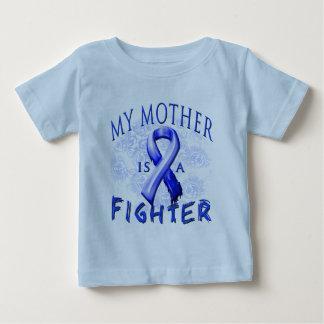 私の母は戦闘機の青です ベビーTシャツ