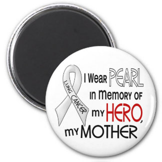 私の母肺癌を記念して真珠 マグネット