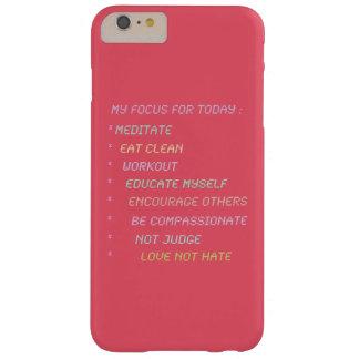 私の毎日の焦点のリスト BARELY THERE iPhone 6 PLUS ケース