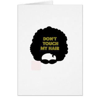 '私の毛に触れないで下さい カード