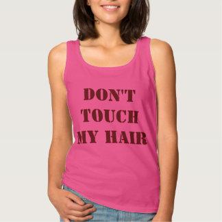 私の毛の上に触れないで下さい タンクトップ