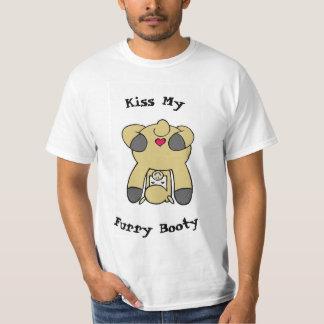 私の毛皮で覆われた利得のTシャツに接吻して下さい Tシャツ