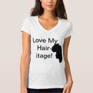 私の毛itageを愛して下さい tシャツ