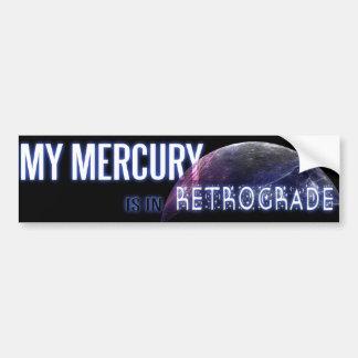 私の水星は逆行にあります バンパーステッカー