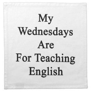 私の水曜日は英語を教えるのためです ナプキンクロス