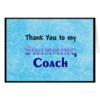 私の水泳のコーチにありがとう カード