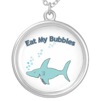 私の泡を食べて下さい シルバープレートネックレス