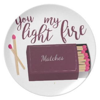 私の火をつけて下さい プレート