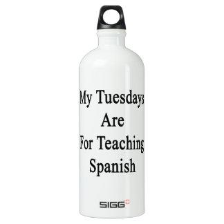 私の火曜日はスペイン語を教えるのためです ウォーターボトル