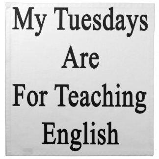 私の火曜日は英語を教えるのためです ナプキンクロス