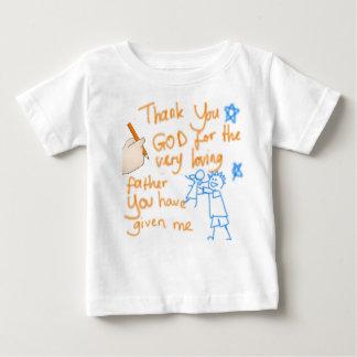 私の父を神はありがとう(女の子のために) ベビーTシャツ