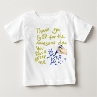 私の父を神はありがとう(男の子のために) ベビーTシャツ