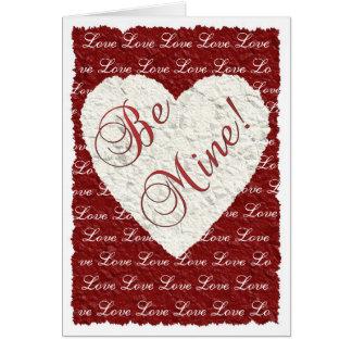 私の物があって下さい! バレンタイン グリーティングカード