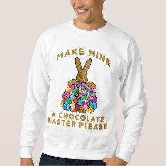 私の物にチョコレートイースタースエットシャツをして下さい スウェットシャツ