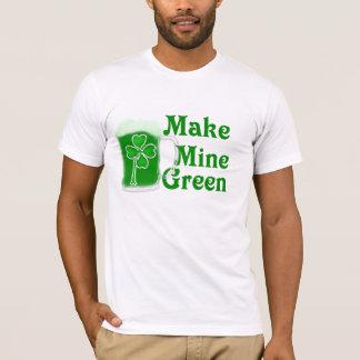 私の物に緑St. Patricks日のビール及びクローバーをして下さい Tシャツ
