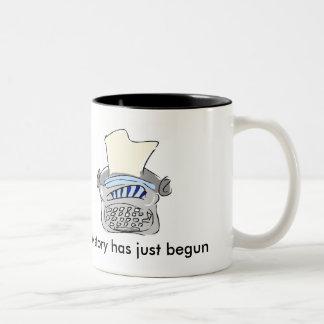 私の物語はちょうどマグを始めました ツートーンマグカップ