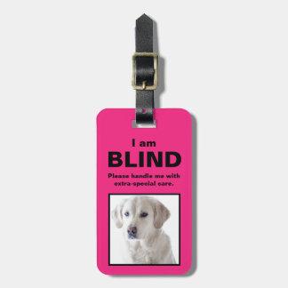 [私の犬について]ブラインド耳が聞こえない猫犬 ラゲッジタグ