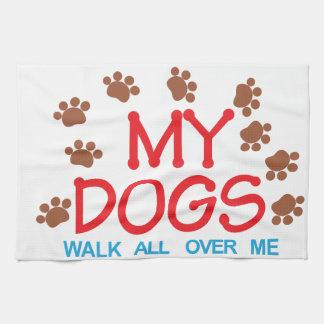 私の犬の歩行 キッチンタオル