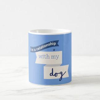 私の犬の青のマグとの人間関係 コーヒーマグカップ