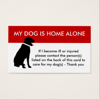 私の犬の非常時に関する案内のための心配 名刺