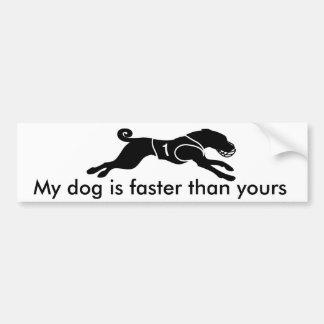 私の犬はより速いです バンパーステッカー