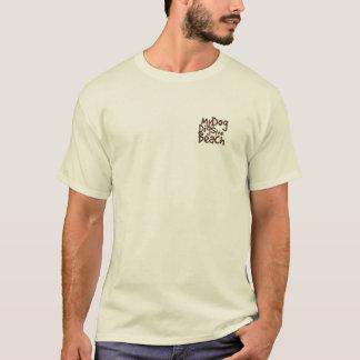 私の犬はビーチのワイシャツを掘ります Tシャツ