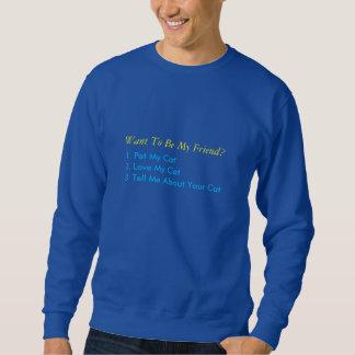私の猫のスエットシャツを愛して下さい スウェットシャツ