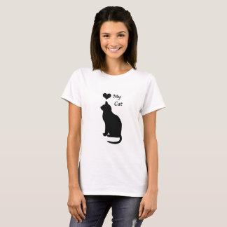 私の猫の女性のTシャツを愛して下さい Tシャツ