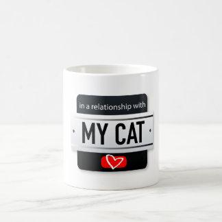 私の猫の黒のマグとの人間関係 コーヒーマグカップ