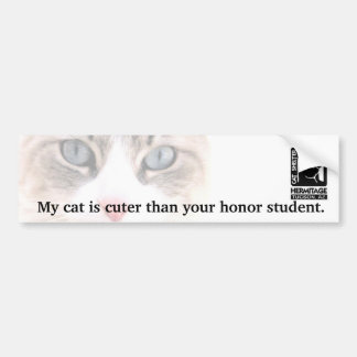 私の猫はあなたの名誉学生よりかわいいです バンパーステッカー