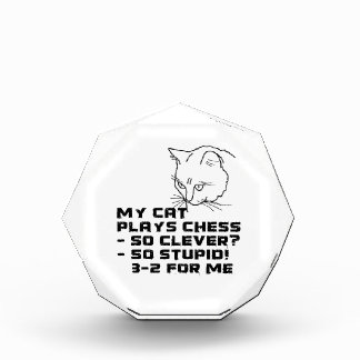 私の猫はチェスを遊びます 表彰盾